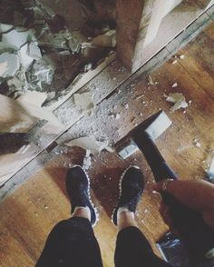 Chris and Shay Broughton on Instagram: Sunday Funday! #stressrelief #demo #breakshit...
