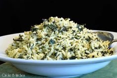 spinach, goat cheese and lemon orzo
