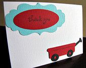 Little Red Wagon Party - Thank You Card