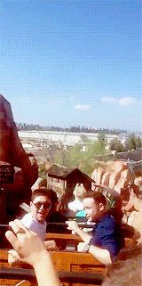 Niall today on Big Thunder Mountain at Disneyland