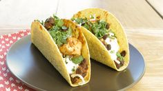 These tacos are incredibly filling thanks to the two proteins: beans and chicken!