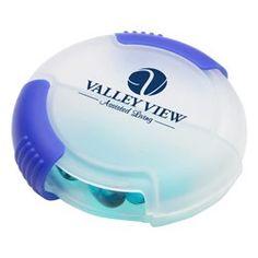 DOUBLE SLIDE PILL BOX CLEAR/BLUE - WHF-PB12BL #Health