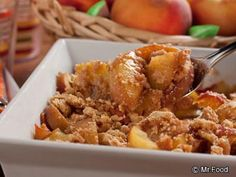 Oh the simple tasty pleasure of a ripe and juicy summer peach! Our Summer's Best Peach Crumble is a warm and comforting dessert that lets you enjoy this classic recipe anytime of the year!