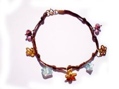 Handmade bracelet with gold plated charms sky by twolittlefairies