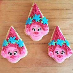Poppy Trolls Cookie tutorial #trolls