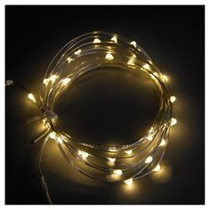 The Philips 30 ct Twinkling Dewdrop Battery-Operated Fairy String Lights in Warm White can help you sculpt your own holidays. The light strand comes on a shapeable wire so you can highlight your favorite décor this Christmas.