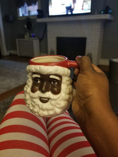 Looks great sis! Thanks for sharing an image of your African American Santa Claus Mug. We love it and you look like you do too! #christmas #santaclaus #blacksanta...