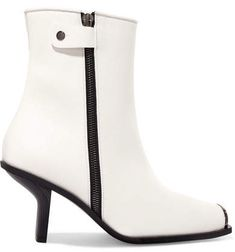Stella McCartney - Faux Leather Ankle Boots - White