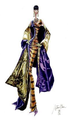 Arturo Elena Fashion illustration #fashion #moda #ilustracion #sketch #boceto