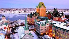 Quebec City, Canada Another dreamy winter getaway. Old Quebec, Montreal Quebec, Quebec City, Vancouver, The Places Youll Go, Places To See, Croatia National Park, Places To Travel, Palaces