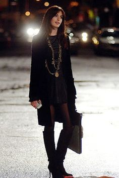 Anne Hathaway in The Devil Wears Prada. Basically I have a huge crush on both Anne and her wardrobe in this movie!