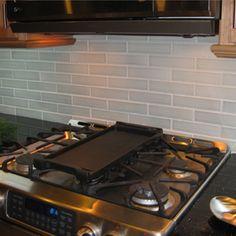 Reclaimed Tile Modern Custom Ceramic Subway 2 X 4 Offset Kitchen Backsplash Remodel Lead Free Glaze Sky Stone Brick Pinterest