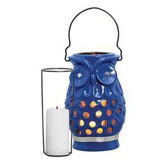 Luminária para Decoração de Coruja | Cerâmica Burguina