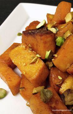 Baked Sweet Potatoes with Honey and Orange Glaze