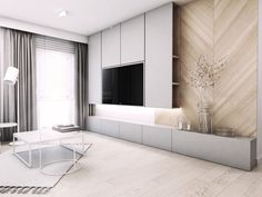Tv Feature Wall, Feature Wall Living Room, Feature Wall Design, Living Room Wall Units, Living Room Tv Unit Designs, Living Room On A Budget, Home Living Room, Small Apartment Interior, Interior Design Living Room