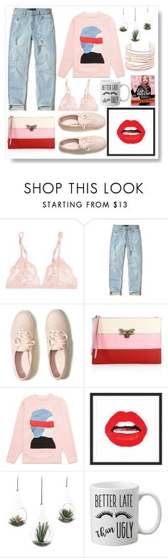 """""""Coffee Time!"""" by glendamahala ❤ liked on Polyvore featuring La Perla, Hollister Co., Gucci, Marmont Hill, NDI and Alexis Bittar"""