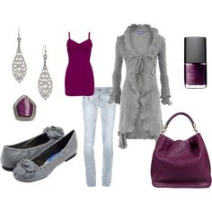 Grey & Grape Casual, created by lisa-sanner.polyvore.com