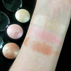 ELF baked highlighters are amazing.  Top to bottom: Moonlight pearls, Pink diamonds, Blush gems