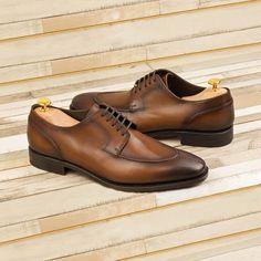 Custom Made Goodyear Welt Split Toe Derby in Medium Brown Painted Calf Leather 1 Custom Design Shoes, Shoe Last, Goodyear Welt, Hot Shoes, Medium Brown, Luxury Shoes, Calf Leather, Designer Shoes, Derby