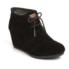 TOMS 'Desert' Bootie (Women) (Save Now through 12/13) Womens Chestnut... (96 CAD) ❤ liked on Polyvore featuring shoes, boots, ankle booties, desert bootie, suede boots, suede booties, desert boots and wedge ankle booties