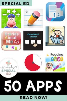 These are all amazing apps for you to use in your special education classroom! These are so great for elementary, middle and high school special ed classrooms! #specialed #specialedteachers