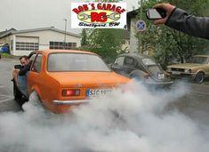 Kadett C 2,4 Burnout fun car tuning Orange oldschool opel vw Käfer ford Granada rob garage