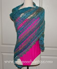 365 Crochet: Beach Vacation Shawl -free crochet pattern-