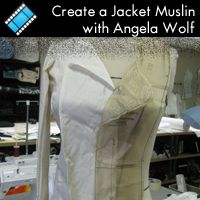 Create a Jacket Muslin online sewing class taught by Angela Wolf at PatternRevie. Sewing Machine Reviews, Sewing Lessons, Sewing Class, Sewing Tutorials, Sewing Projects, Sewing Ideas, Altering Pants, Brother Dream Machine, Amigurumi