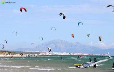 #kitesurfing in #Tarifa, Spain