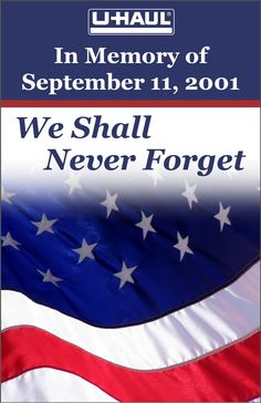 In remembrance all those whose lost their lives that somber day.  May we remain strong  & keep them in our hearts. #9/11