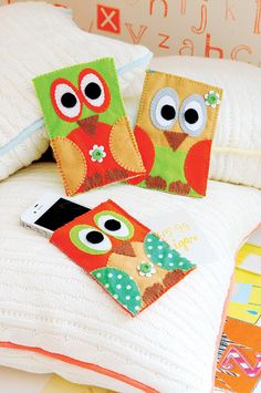 mobile holder from felt Owl Crafts, Crafts For Kids, Owl Phone Cases, Phone Cover, Owl Sewing, Owl Bags, Kindle Case, Felt Owls, Owl Always Love You