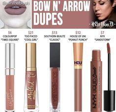 Kat Von D liquid lipstick dupes in the shade Bow n' Arrow // Kayy Dubb