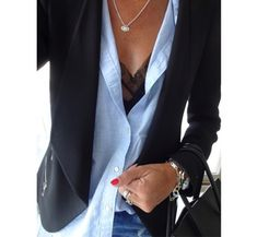 Stunning stripes, a crisp blue button up blouse layered underneath a tailored blazer, a simple white shirt dress. Such simplicity, such sophistication, and what an easy decision to make. Simply luxurious indeed. SHOP SIMILAR ITEMS BELOW: ~STYLE INSPIRATION posts from the Archives: ~Sagacious Taste ~Lots of Stripes ~Denim & Simple Details