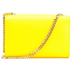 Saint Laurent small 'Monogram' satchel ($1,675) ❤ liked on Polyvore featuring bags, handbags, satchel bag, satchel style handbags, satchel hand bags, yellow satchel and monogrammed purses