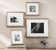 Shop wood gallery frames from Pottery Barn. Our furniture, home decor and accessories collections feature wood gallery frames in quality materials and classic styles. Gallery Frames, Gallery Wall, Pottery Barn, Wood Anniversary Gift, Wedding Anniversary, Driven By Decor, Simple House, Rustic Design, Rustic Wood