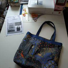Virginie1355 sur Instagram: Voilà mon petit dernier ! 😁 nouveau sac pour l'été, il est déjà miroité par ma mère .....!! 😉. Très simple à faire, patron très bien…