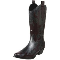 dav Women's Western Cowboy Firewater Rain Boot, yes these are waterproof!!