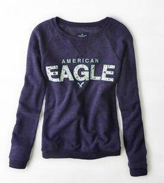 Navy AEO Signature Sweatshirt