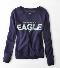 Navy AEO Signature Sweatshirt