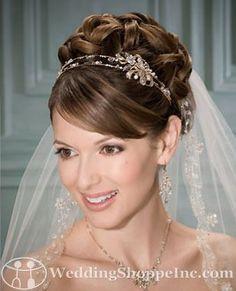 Bel Aire Bridal Headpiece 8670 - gold