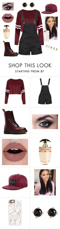 """""""Twis"""" by keasu ❤ liked on Polyvore featuring Boohoo, Dr. Martens, Prada, Casetify and Irene Neuwirth"""