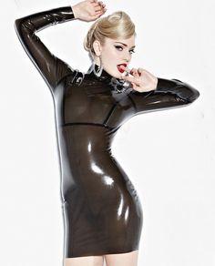 Discover our TRANSPARENT BLACK #LATEX #DRESS om our shop http://lovenoir.com #fetish