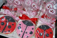 lady bug cookies!  (I love these, they look almost exactly like my tattoo)