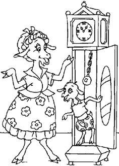 Risultati immagini per maternelle le loup et les sept chevreaux Free Printable Coloring Pages, Coloring For Kids, Coloring Pages For Kids, Coloring Books, Fairy Tale Activities, Language Activities, Bujo Doodles, Kindergarten Games, Online Drawing