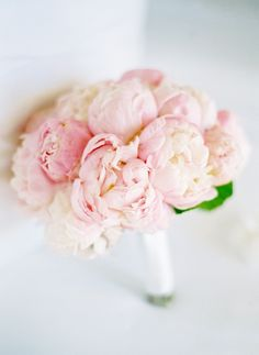Pretty in pink- a perfect bouquet of blushing peonies.