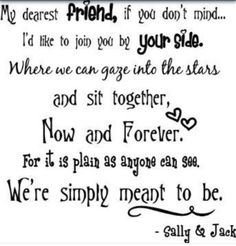 A nightmare before Christmas jack and Sally quote