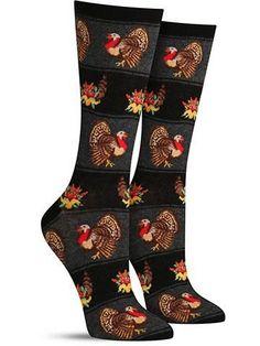 Womens Long Socks Red Lobster Denim Socks