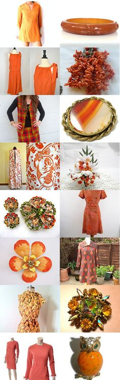 Fall Orange Vintage Explosion Team by Sandee Yessick on Etsy--Pinned with TreasuryPin.com