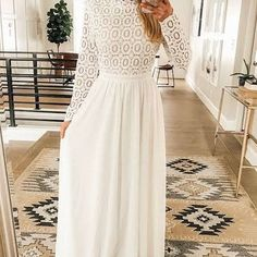 perfect temple dress or bridal shower dress. perfect temple dress or bridal shower dress. White Maxi Dresses, White Dress, Formal Dresses, Temple Dress, Shower Dresses, White Long Sleeve, Bridal Shower, Dress Long, Sleeves