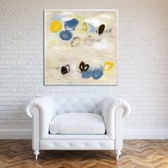 Abstract painting print GICLEE neutral wall art beige brown Large art Chocolates with almonds 1